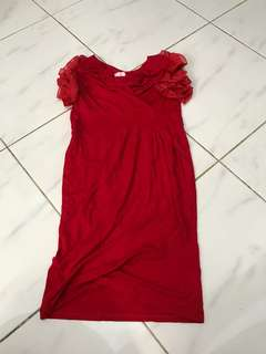 Dress rumbai merah