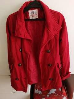 Clockhouse Red Trenchcoat