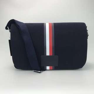 Tommy Hilfiger canvas messenger bag navy blue