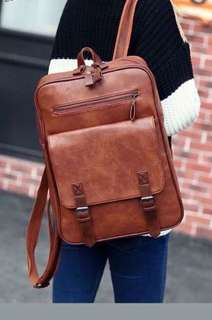 Spacious Leather Backpack