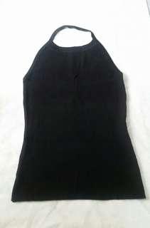 Black haltered knit