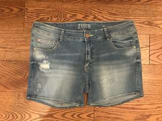 Zara Low Rise Jean Shorts