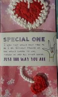 Crochet Heart Bookmark (Magneficient Love Bookmark)