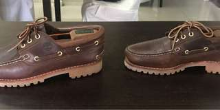 Timberland 3 eye lug boat shoes
