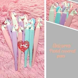 12 pcs Pastel unicorn pens