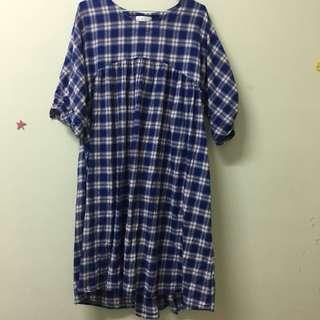 🚚 全新✨韓版藍格子洋裝
