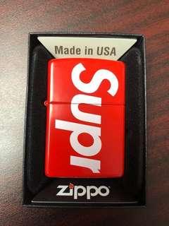 Supreme logo Zippo lighter