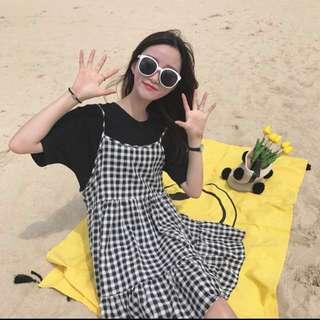 🚚 格子洋裝全新 韓版 連衣裙