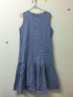 🚚 全新✨藍格子魚尾洋裝