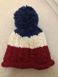 Brand new blue white and red beanie