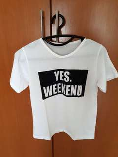 YES WEEKEND T SHIRT (bisa nego)
