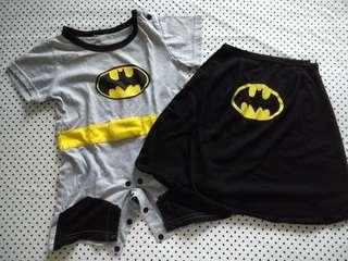 Batman Overall Costume with Detachable Cape