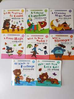 Pre-loved 8 English Story Books (with Chinese) for Pre-schoolers Cognitive Development