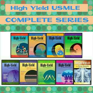 High Yield USMLE COMPLETE SERIES MEDICAL MEDICINE MED BOOKS