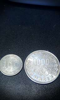 日本東京奧運記念銀幣