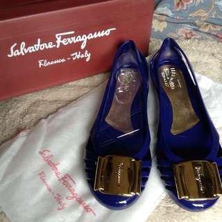 Salvatore Ferragamo Bermuda Jelly Ballet Flats