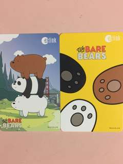 Limited Edition brand new We Bare Bears Blue ezlink Card For $13.90 And Yellow ezlink Card For $12.