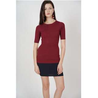 MDS Collection Contrast Bandage Dress in Wine Midnight (2226209WINE)  Size: XS