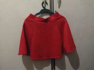 H&M red skirt