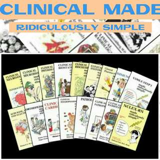 Clinical Made Ridiculously Simple COMPLETE SERIES MEDICINE MEDICAL MED BOOKS