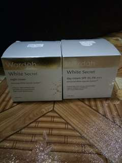 Wardah white secret 1 set (siang malam)