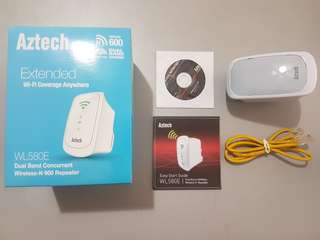 Aztech WL580E Wireless-N 600 Repeater (2.4/5 Ghz)