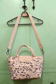 Longchamp Light Pink Sakura Sling Bag