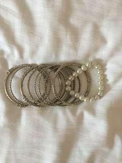 Silver Bangles/Bracelets
