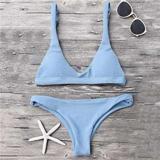 Baby blue two piece