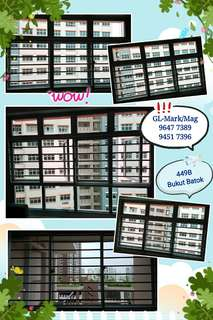 whatsapp 96477389. Aluminium Grilles and Windows for BTO 4 rooms