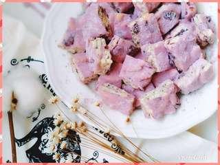 自家純手工紫薯味雪花酥
