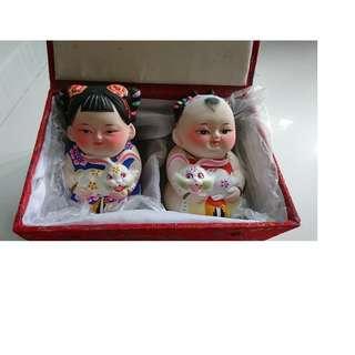 Porcelain decorative Chinese dolls