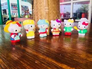 Hello kitty figurine 6 pcs