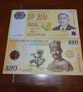 CIA40 $20 set of Sg & Brunei