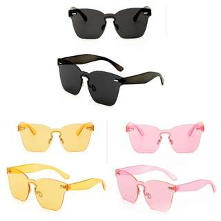 NEW Tinted Coloured Sunglasses (Yellow, Black, Pink)