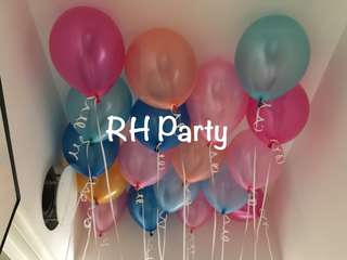 (12/6) Metallic Latex Helium Balloons