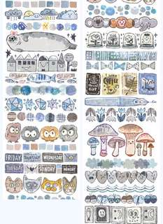 (Instock) *Exclusive* Down in the Blues Washi Stickers