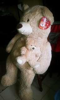 """52"""" Teddy bear w/ baby"""