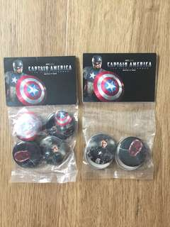 Captain America Badges Brand New