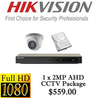 HIKvision 1080P Analog CCTV Package 1