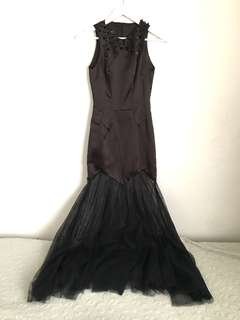 Sapto Djojokartiko Black Long Gown