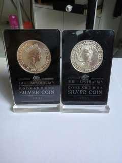 1991   Australian $5 silver coin