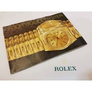 Rolex Submariner Explorer Daytona Oyster booklet (Please check for stock available) 勞力士書仔多本(請查詢存貨)