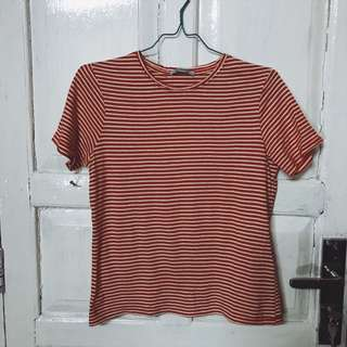 zara red stripes tshirt