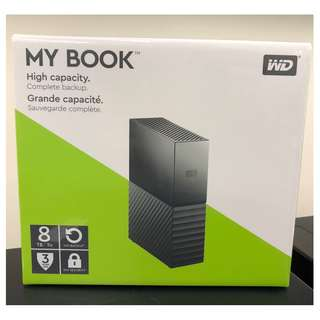 WD My Book 8TB external harddisk HDD