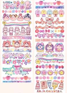 (Instock) *Exclusive* Pink and Sparkles Washi Stickers