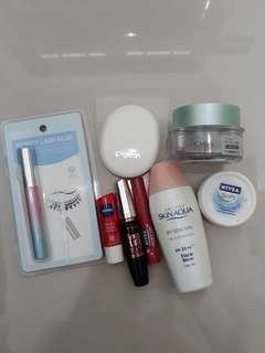 1 set Miniso, Face Shop, Maybelline, Nivea, Pigeon Make Up