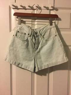 Forever 21 high waisted denim cuffed shorts - size 25