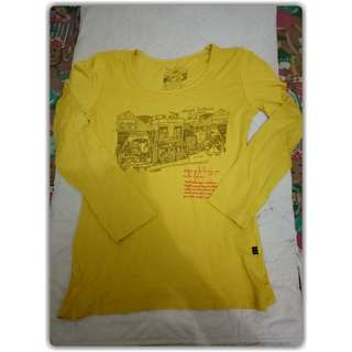 Long sleeves kuning freesize (fit to S - L)