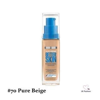 💕 Instock 💕 Maybelline Super Stay Better Skin Foundation 💋 #70 Pure Beige 💋